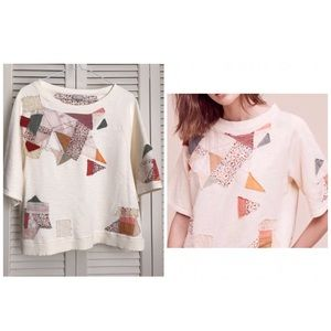 *SOLD* Anthropologie Postmark patchwork top